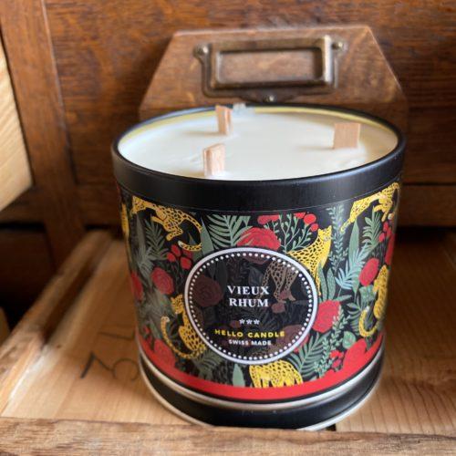 bougie vieux rhum hello candle cerise noire
