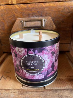 bougie violette et rose Hello Candle Cerise Noire