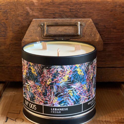 bougie bois de cèdre,hello candle,cerise noire