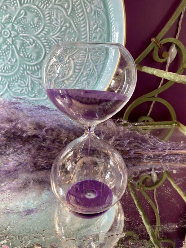 sablier violet cerise noire