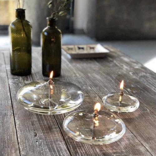 lampe a huile ellipse cerise noire